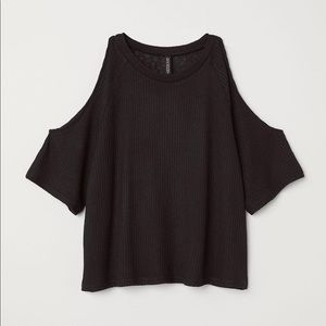 H&M Open Shoulder Army Green Top